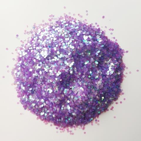 Блестки для слайма крупные профи фиолетовый жемчуг 20мл