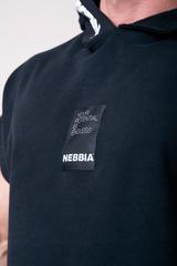 Мужская футболка Nebbia Reg top with hoodie 175 black