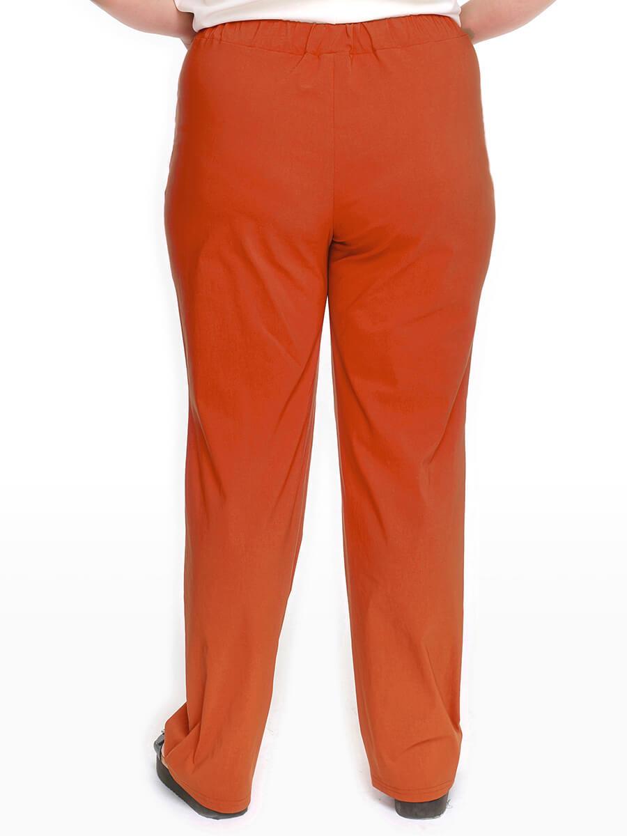 Прямые брюки терракотовые