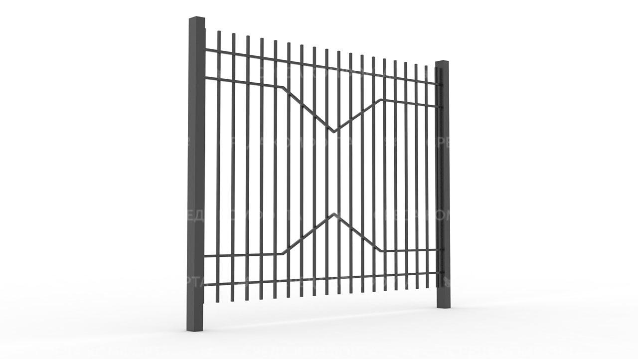 Забор из профильной трубы ZBR0151