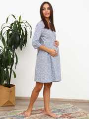 Мамаландия. Комплект для беременных и кормящих с отрезной кокеткой, сердечки/серый