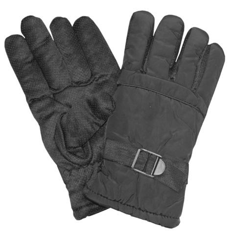 Перчатки утепленные черные Дюспа + мех