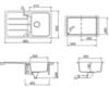 Мойка кухонная TEKA Simpla 45B-TG Чёрный металлик - схема