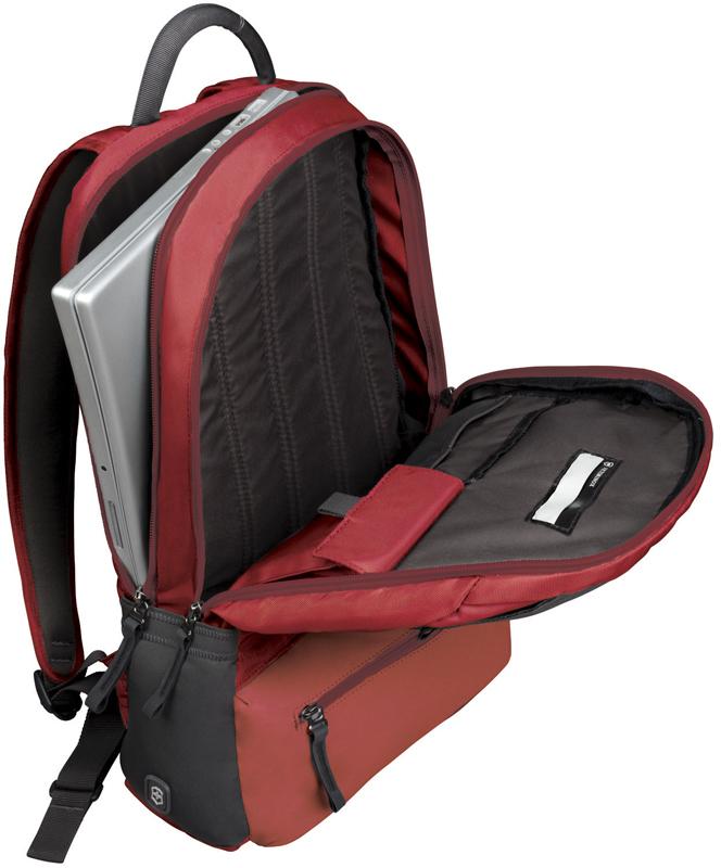 Городской швейцарский рюкзак Victorinox Altmont 3.0 Laptop Backpack, красный, 46x32x17 см., 25 л. (32388303)