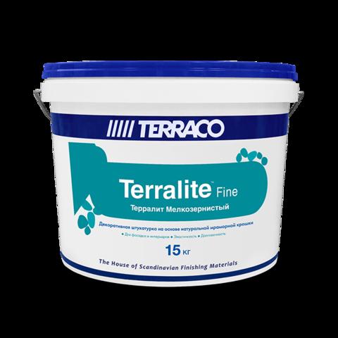 Terraco Terralite Fine/Террако Терралит Файн мелкозернистое акриловое покрытие, наполненное натуральной мраморной крошкой природных оттенков