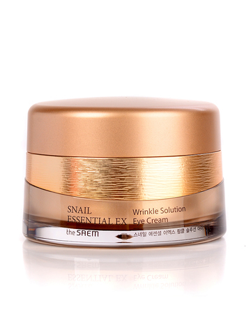 The Saem Snail Essential Ex Wrinkle Solution Eye Cream крем с улиткой антивозрастной для кожи вокруг глаз