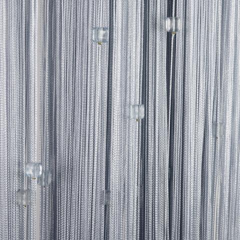 Нитяные шторы с бусинами (кубики) - Серые. Ш-300см., В-280см. Арт.7