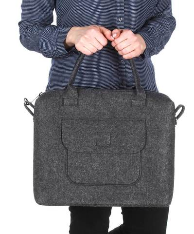 Войлочная сумка Gmakin Joy темно серая