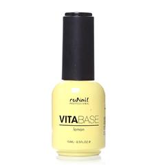 ruNail, База для гель-лака с лимоном, VitaBase Lemon, 15 мл