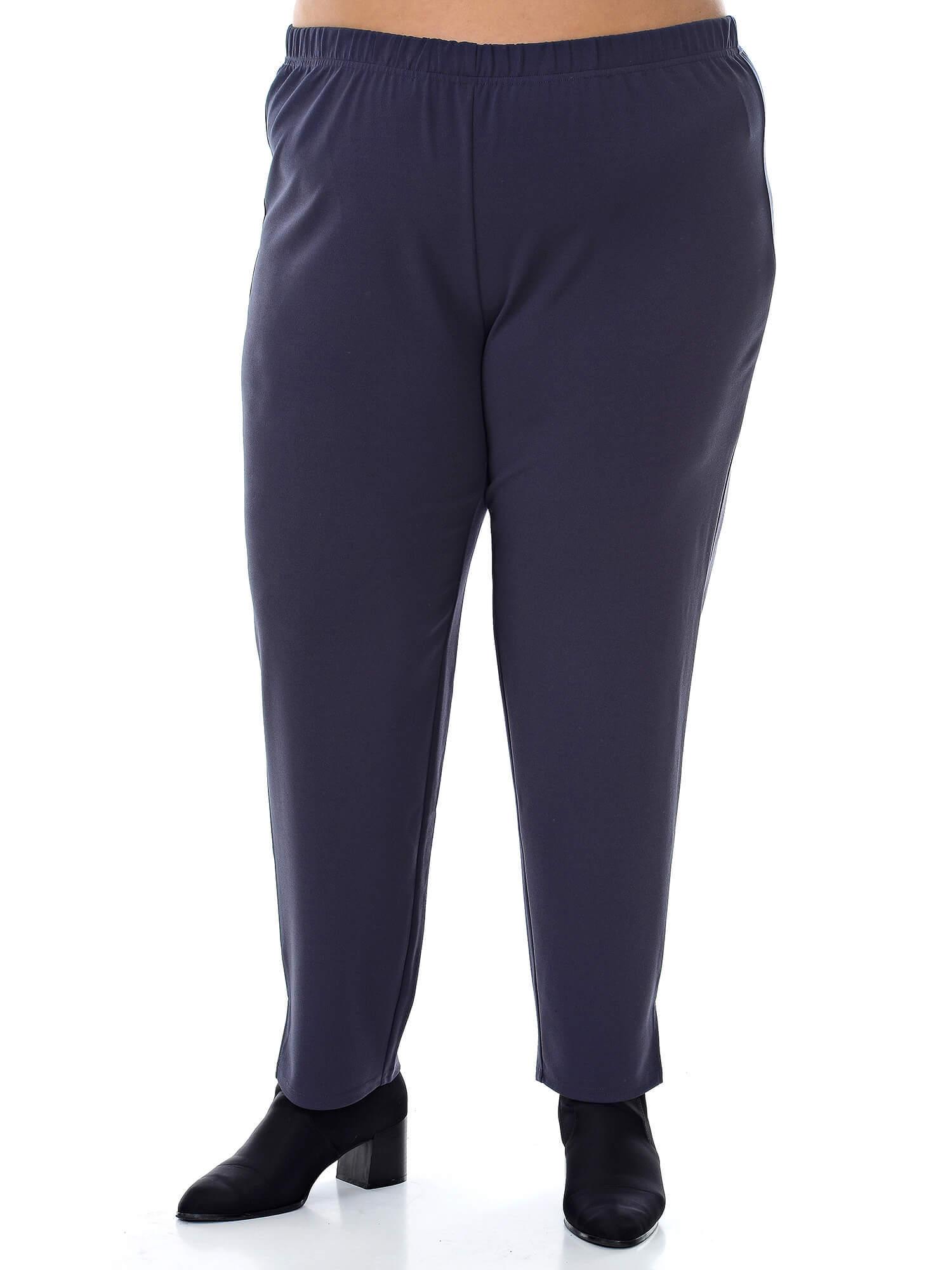 Зауженные женские серые брюки 76 размера