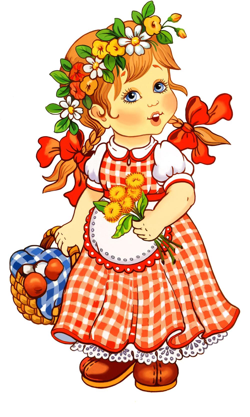 Папертоль Девочка с корзинкой — главное фото сюжета.