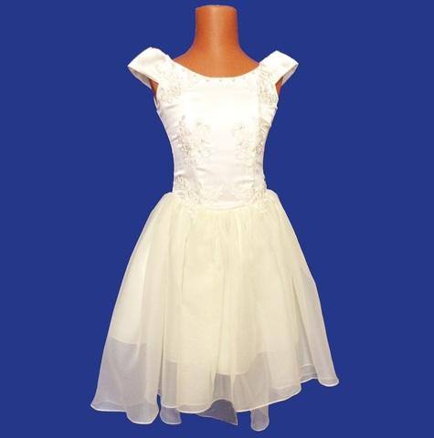 Бальное платье Айвори кружево жемчуг