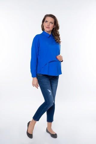 Рубашка для беременных 08922 синий