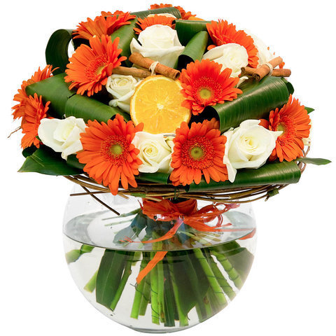 Стеклянная шаровая ваза для букетов (7л)