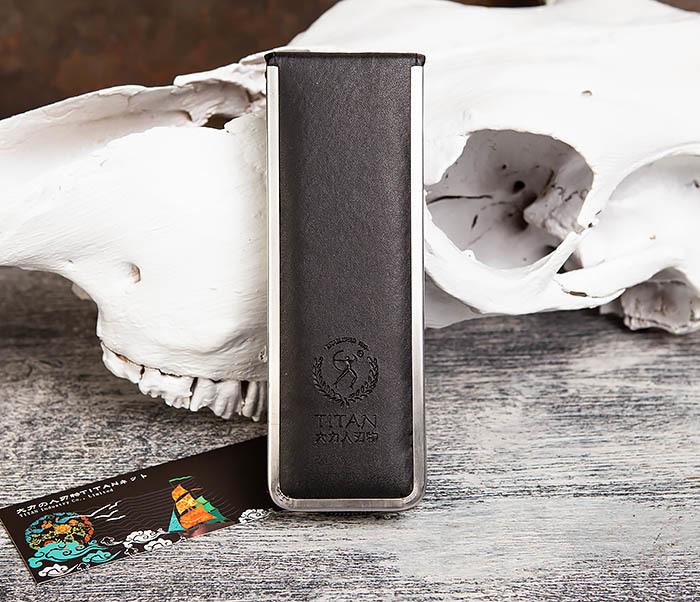 RAZ417 Опасная бритва Titan с деревянной рукояткой фото 10