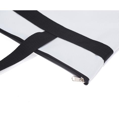 Сумка для парикмахерских инструментов Dewal, 43x44 см, черно-белая