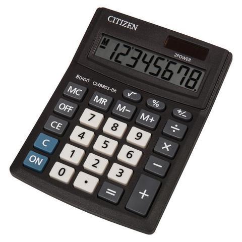 Калькулятор настольный КОМПАКТНЫЙ Citizen BusinessLine CMB801-BK 8-разрядный черный