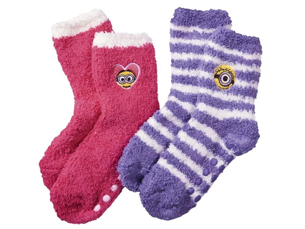 Носки детские с силиконовой подошвой 2 пары MINION