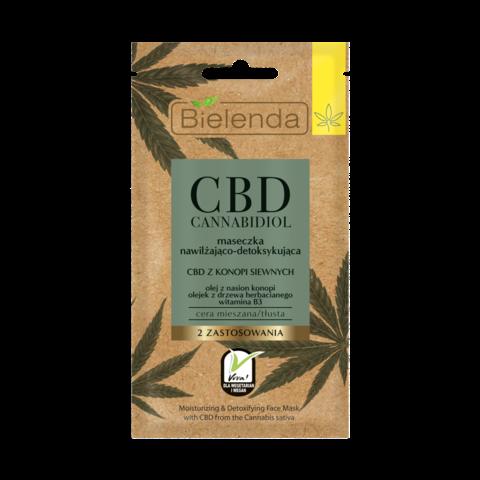 CBD Cannabidiol Увлажняющая и детоксифицирующая маска с CBD из семян конопли для смеш,жирной