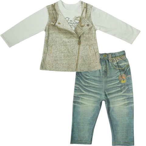 Папитто. Комплект кофточка и штанишки для девочки FASHION JEANS