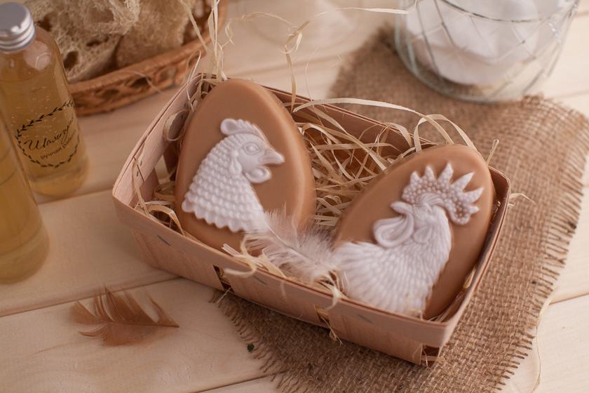 Мыло ручной работы Яйцо/Курица. Подарочный набор