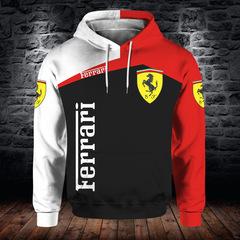 Толстовка утепленная 3D принт, Ferrari (3Д Теплые Худи Феррари) 02
