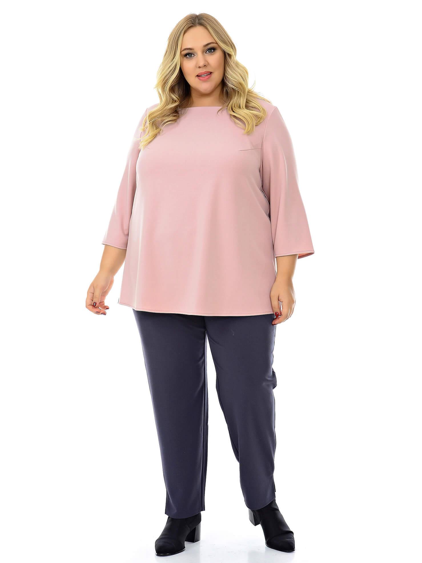 Серые женские брюки для полных