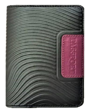 Обложка на паспорт | Waves | Чёрный