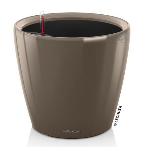 16065 Кашпо LECHUZA Классико 35 LS Серо-коричневое. с системой полива и съемным горшком