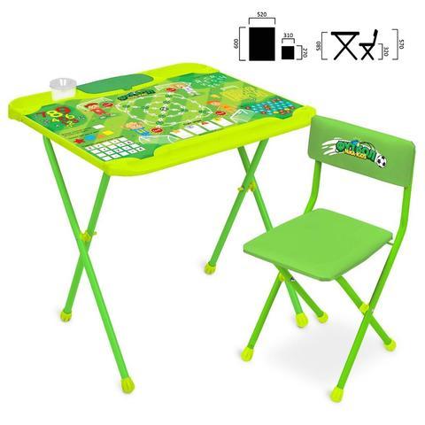 Комплект детской мебели с футболом (стол и стул, моющиеся), МебКНД2-2