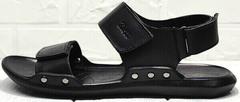Летние босоножки мужские сандалии из натуральной кожи Zlett 7083 Black.