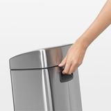 Прямоугольный мусорный бак Touch Bin (10 л, артикул 477225, производитель - Brabantia, фото 6