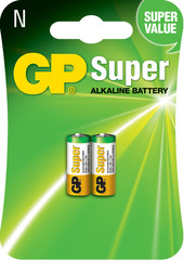 Батарейки GP 910A-U2 Alkaline LR1, AM5, N, MN9100, 1, 5V блистер