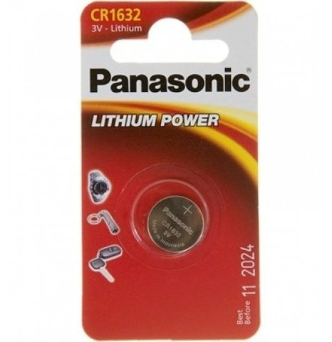 Батарейки литиевые Panasonic CR 1632 BL1