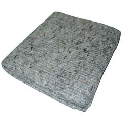 Тряпка для пола нетканое полотно 70х80 см серая (5 штук в упаковке)