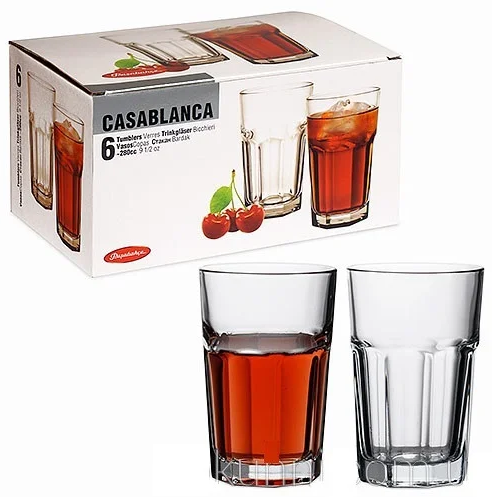 Стаканы Pasabahce Casablanca 280ml  6 шт.  52713-6