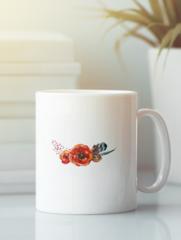 Кружка с изображением Цветы (Маки) белая 007