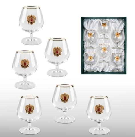 Набор бокалов для коньяка «Золотой запас»