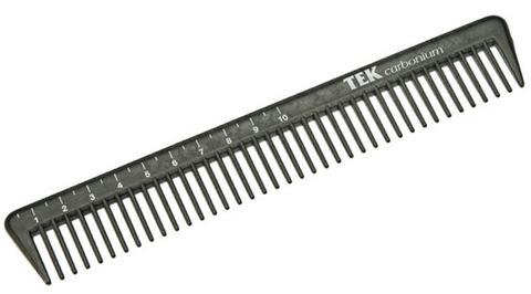 Расчёска карбоновая с мерной линейкой TEK