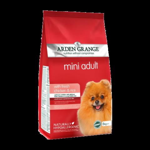 Arden Grange Adult Mini Сухой корм для взрослых собак мелких пород Курица и Рис