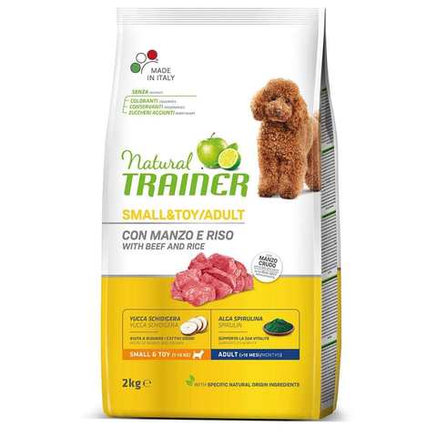 Сухой корм Trainer Natural Small and Toy with beef and rice