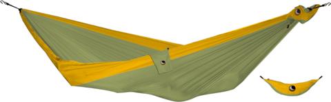 Картинка гамак туристический Ticket to the Moon compact hammock Khaki - Dark Yellow - 1