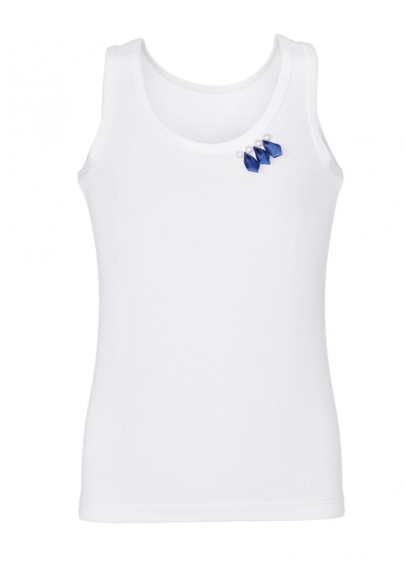 Майка LR-U-C-3LAL-4PJ, цвет белый/синий