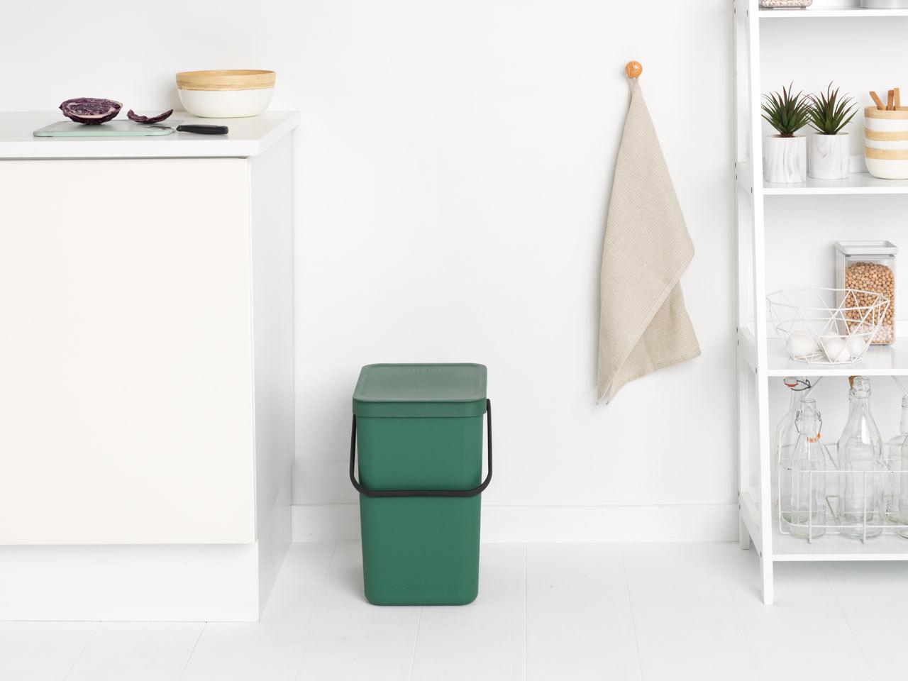 Встраиваемое мусорное ведро Sort & Go (25 л), Темно-зеленый, арт. 129964 - фото 1