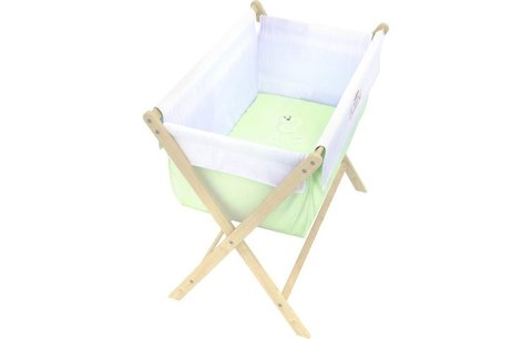 Кровать детская Polini kids Колыбель, зеленый
