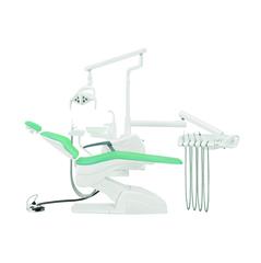 Установка стоматологическая QL2028 (Pragmatic) с нижней подачей цвет P03 бирюзовый КОМПЛЕКТ 2 СТУЛА
