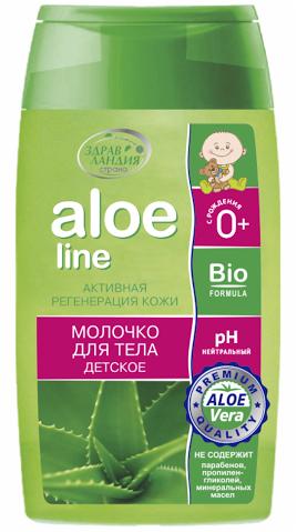 Aloe line молочко для тела детское 150 мл.