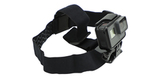Крепление на голову + клипса на одежду GoPro Headstrap + QuickClip (ACHOM-001) внешний вид с камерой