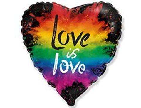 Фольгированный шар LOVE IS LOVE