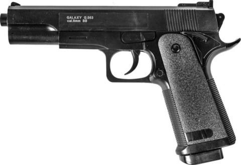 Страйкбольный пистолет Galaxy G.053 Colt 1911 пластиковый, пружинный